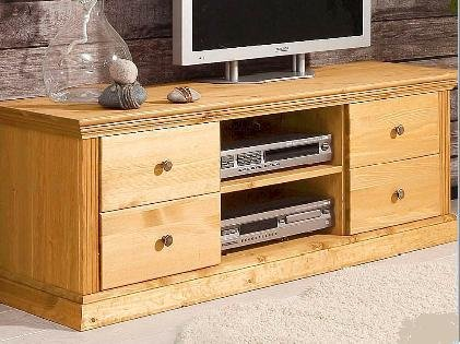 kaufen tv lowboard kiefernholz gelaugt tv schrank tv m bel lowboard massiv. Black Bedroom Furniture Sets. Home Design Ideas