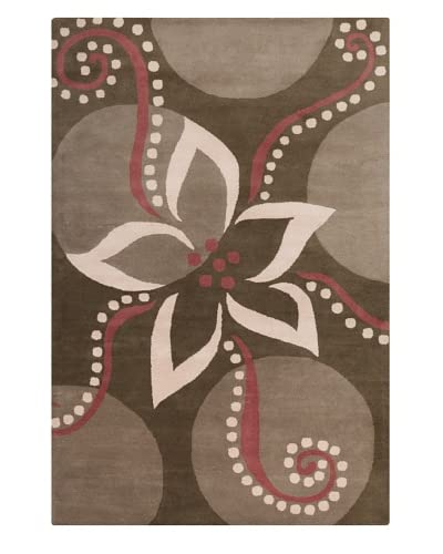 Filament Dollie Hand-Tufted Wool Rug, Brown/Burgundy, 5′ x 7′ 6″