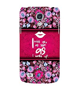 I Miss You Quote 3D Hard Polycarbonate Designer Back Case Cover for Samsung Galaxy S4 Mini i9190
