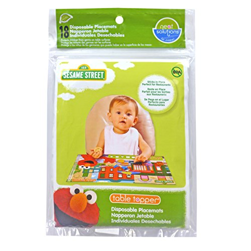 Sesame Street Biodegradable Table Topper Disposable Stick-on Placemat, 18-Count