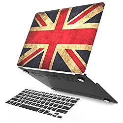 iBenzer - 2 in 1 Soft-Touch Plastic Hard Case Cover & Keyboard Cover for 13 inches Macbook Air 13.3'' (Model: A1369 / A1466), UK Flag MMA13UKFL+1