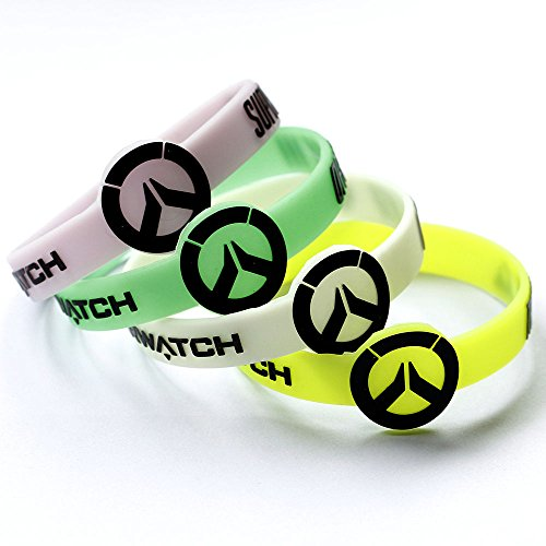 PS4 Game Overwatch Logo Luminated Silicone Wristbands Rubber
