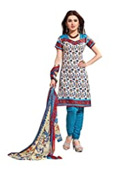 Sky Fashions Women's Multi Cotton Top Un-stiched Salwar Suit (SYFW0028)