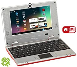 WolVol Worlds Smallest Internet Laptop (Works with WIFI or Ethernet cable) - RED