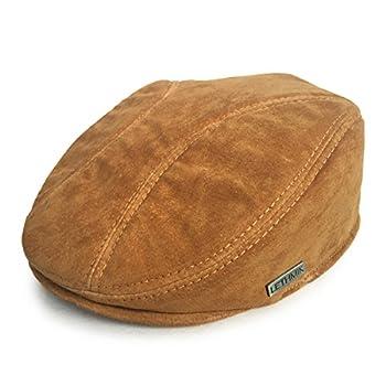 LETHMIK Classic Newsboy Flat Hat Genuine Leather Cabbie Hat Ivy Cap Driving