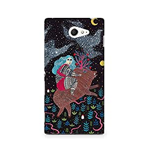 MOBICTURE Pattern Premium Designer Mobile Back Case Cover For Sony Xperia M2 S50h