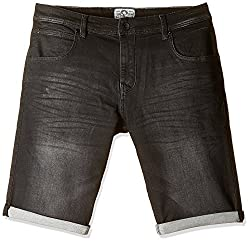 Celio Men's Cotton Shorts (3596654340298_DOKLACKBMBLACK_96_Black)