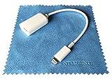 iNTE-E Direct 【Amazon限定・即日出荷】 iPhone iPad Lightning OTG ケーブル Lightning - USB 変換 アダプター (オス-メス) USB用変換ケーブル ライトニング コネクター Lightning - USBカメラアダプタ(Lightning OTG ケーブル) i-HENKAN-W