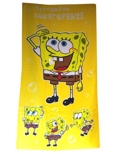 Yellow Spongebob Squarepants Towel - Spongebob Beach Towel front-1084211