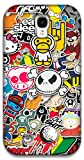 The Racoon Lean Sticker Bomb hard plastic printed back case / cover for Samsung Galaxy S4