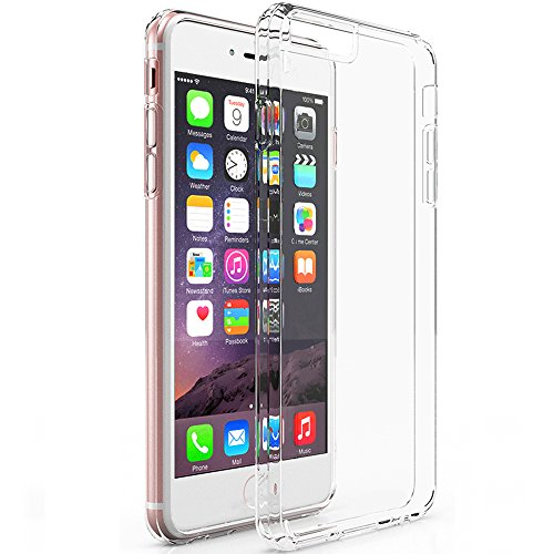 MXx iPhone 6 6S Hybrid Bumper Case With Ultra Clear Hard Plastic Back Panel Cover and Integrated Shock-absorbing Design for Apple iPhone 6/ iPhone 6s 4.7-Inch - Clear (Iphone 6 Clear Cover compare prices)
