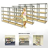 ELEPHANT® 10 PACK 76CM WIDE 5 TIER HEAVY DUTY STEEL WAREHOUSE RACKING GARAGE FREE STANDING SHELVING STORAGE