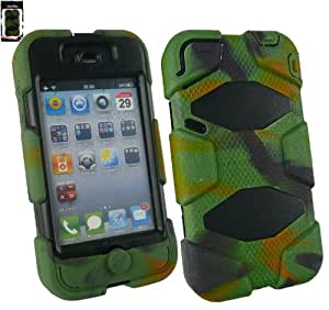 Emartbuy® Apple Iphone 4 4G 4GS Camouflage Impact Dual Layer Protection Case / Cover / Skin
