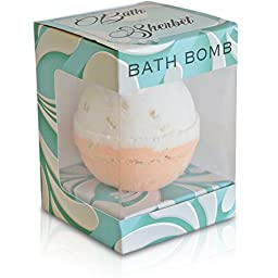 Oats & Honey Flower Bath Sherbet Bath Bomb Fizzy - Set of 10 - Extra Large - 4.5oz - Infused with Sea Salt & Shea Butter - Perfect for Relaxation and As a Gift