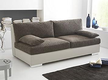 Boxspring Schlafsofa Somerset braun beige, 202x106cm Dauerschläfer Sofa Schlafcouch Schlafliege