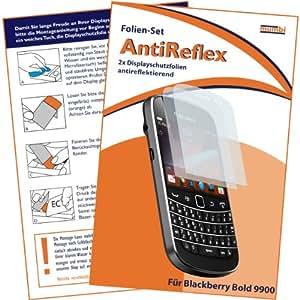 2 x mumbi Displayschutzfolie Blackberry Bold 9900 Displayschutz AntiReflex antireflektierend