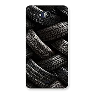 Premium Knot Tyre Back Case Cover for Canvas Play Q355