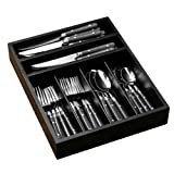 Premier Housewares Cafe 36-Piece Cutlery Set, Black