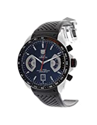 TAG Heuer Men's CAV511C.FT6016 Grand Carrera Titanium Automatic Black Dial Watch