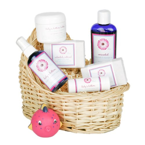 Deluxe Baby's Gift Basket - Lavender Themed (Baby Oil and Soaps)