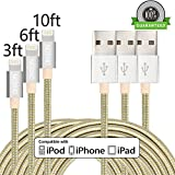 ONSON-Lightning-Cable3Pack-3FT-6FT-10FT-Nylon-Braided-Charging-Cable-iPhone-CordCharge-and-Sync-for-iPhone-66-Plus6s6s-Plus55c5siPad-4-Mini-Air