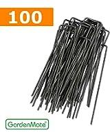 GardenMate® 100 piquets de fixation pour bâche toile paillage et anti-mauvaises herbes - 15cm en métal