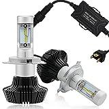 Autofeel 車用LEDヘッドライトバルブ H4 9003 80W 8000lm (H4)