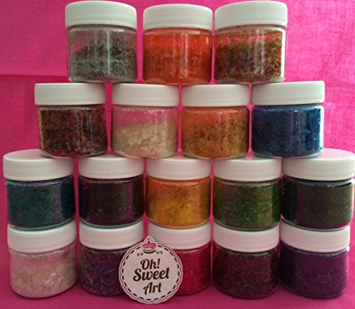 Edible Glitter Pick Up your COLOR 1/4 oz. cakes, cupcakes, cookies By Oh! Sweet Art (RAINBOW) WE HAVE MORE COLORS IN OUR AMAZON STORE (Glitter Icing compare prices)