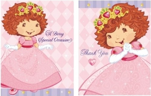 Strawberry Shortcake 'Berry Princess' Invitations and Thank You Notes w/ Envelopes (8ct ea.) - 1