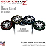 Lightning White Skin by WraptorSkinz fits Rock Band Drum Set for Nintendo Wii, XBOX 360, PS2 & PS3 (DRUMS NOT INCLUDED)