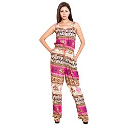 BELOMODA Womens Mix prints Rayon Jumpsuit