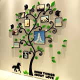 3D Crystal Tree Wall Art Sticker With Photo Frame For Home Bedroom Decoration