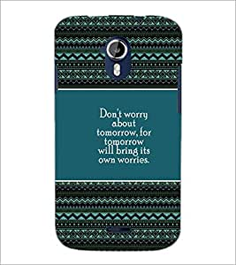 PrintDhaba Quote D-4174 Back Case Cover for MICROMAX A116 CANVAS HD (Multi-Coloured)