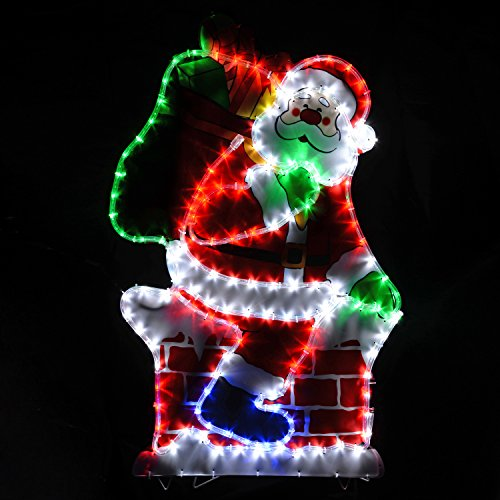 Animated outdoor christmas decoration wall roof mounted for Animation decoration noel