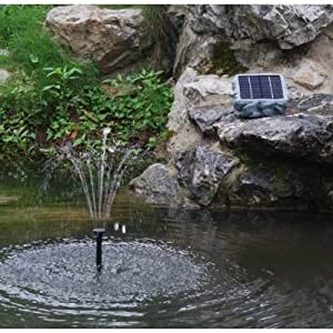 Pk Green Solar Fountain Water Feature  - 60cm Height / Solar Powered / Power Backup / Adjustable Flow Rate