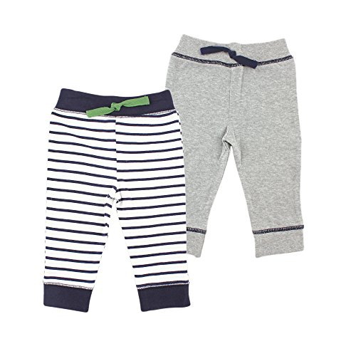 Yoga Sprout Baby 2 Pack Pants, Navy/Green, 12-18 Months