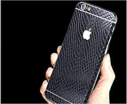 iPhone 6 Plus/6s Plus Decal, Supstar Full Body Skin Sticker [Snake Skin Pattern] Wrap Covered Edges Vinyl Decal Screen Protector Film for Apple iPhone 6 Plus/6s Plus (Black)