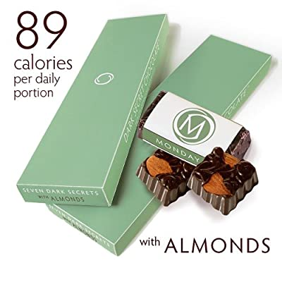DARK SECRET chocolate with Almonds - Two 7 Day Boxes