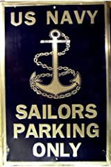 Sailors Parking Only (navy) Parking Sign