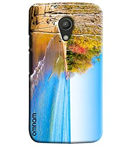 Omnam Sea Side Beach Printed Designer Back Cover Case For Moto G2