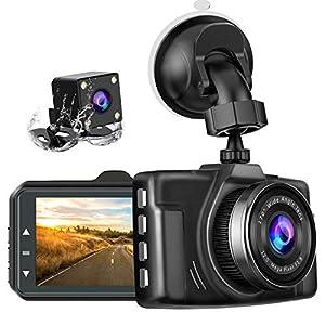 chortauドライブレコーダー 2カメラ 3.0インチ 1080PフルHD 170度広角