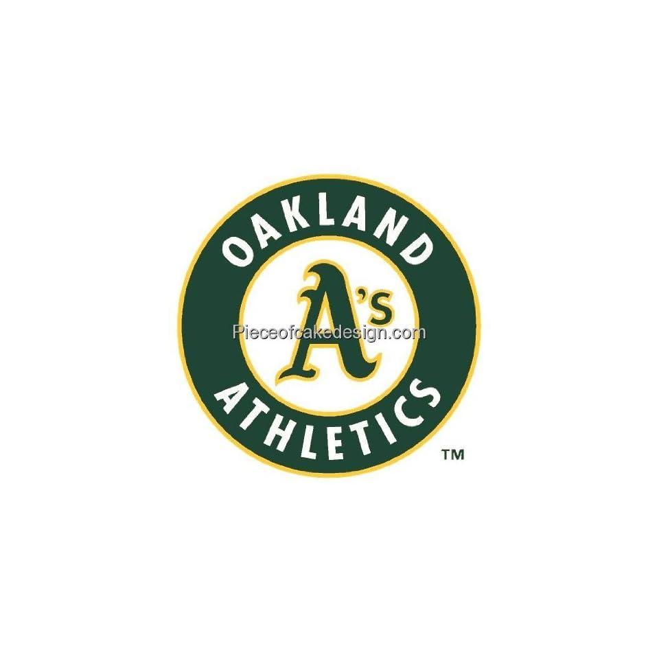 MLB Oakland Athletics ~ Edible Cake Image Topper