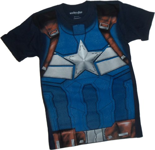 Costume -- Captain America: The Winter Soldier Movie T-Shirt