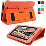 Snugg Nexus 7 Case - Smart Cover with Flip Stand & Lifetime Guarantee (Orange Leather) for Google Nexus 7 (2012)