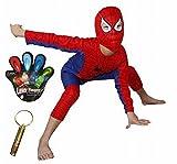 スパイダーマンホイッスルキッズコスプレハロウィンクリスマス子供男の子(S:105cm)