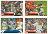 2012 Topps Series 1 Baseball COMPLETE SET 330 Cards HAND COLLATED - Includes 30 Rookies, League Leaders, Record Breakers, MVP Winners, ROY Winners, and more!!