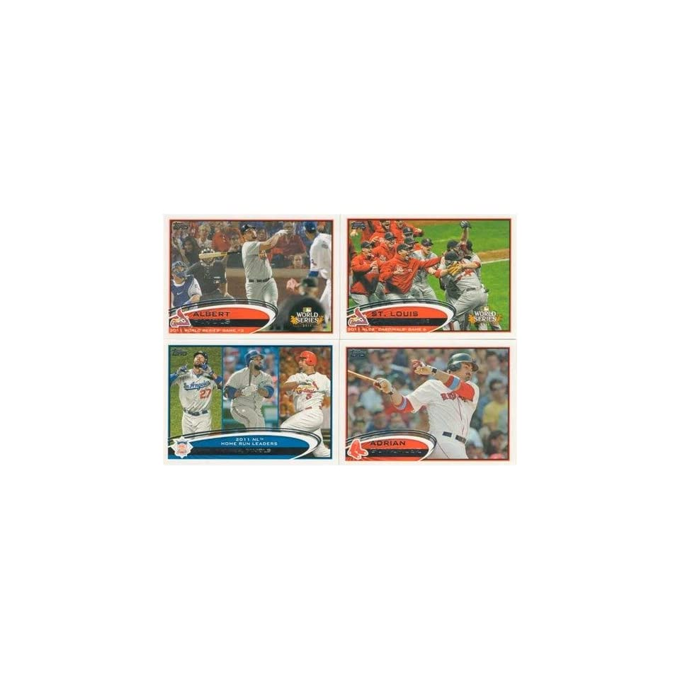 2012 Topps Series 1 Baseball COMPLETE SET 330 Cards HAND COLLATED   Includes 30 Rookies, League Leaders, Record Breakers, MVP Winners, ROY Winners, and more