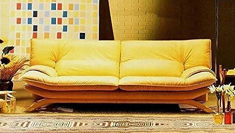 Calia Maddalena-Sofá clásico perfecta Manhattan, Cuir Série Pitone Rouge, Fauteuil - 114x90x90cm