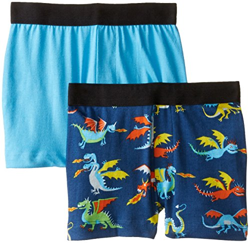 Hatley Little Boys' Kids Boxers Dragons, Blue, 5