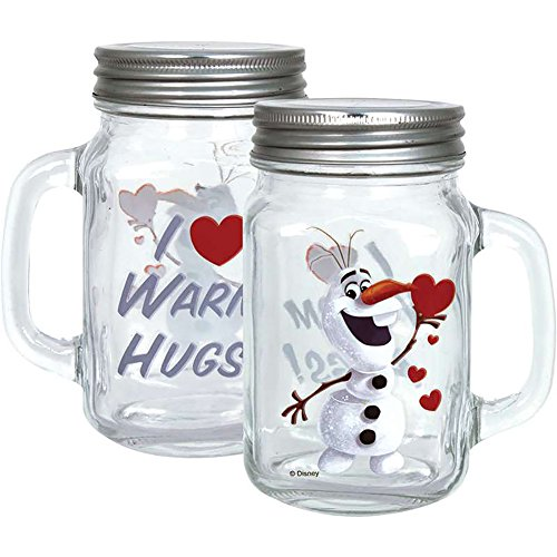 Disney Frozen Olaf Hugs Canning Mason Jar
